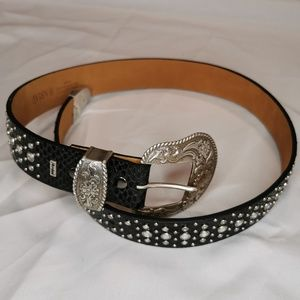 Ariat | Black Leather Jeweled Rhinestone Belt